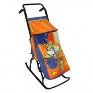 Санки-коляска складные Снежная королева 2Р с рисунком