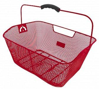 Корзина 5-431613 задняя усил. 41х31х16см сталь на багажник с ручкой красная M-WAVE