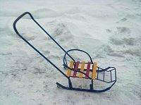Санки с колесиками Метелица