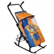 Санки-коляска складные Снежная королева 1Р с рисунком