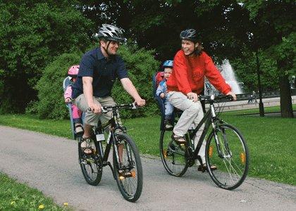 Детское сидение на велосипед на раму