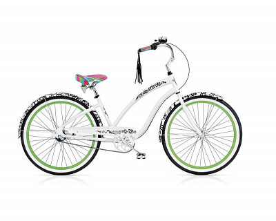 Велосипед Electra Cruiser Blanc et Noir 7i Ladies 2015