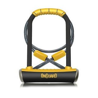 Велозамок OnGuard Pitbull STD U-образный 4 ключа+1 с подсветкой, 115х 230мм , 14мм LCK-33-07 8005