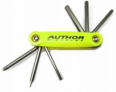 Ключ складной (набор)  AUTHOR Toolbox 6