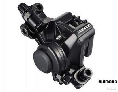 Калипер механический SHIMANO BR-M375 черный, post mount. EBRM375MPRL